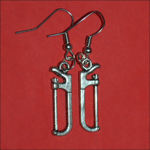 Jewelry - Silver Saw Earrings